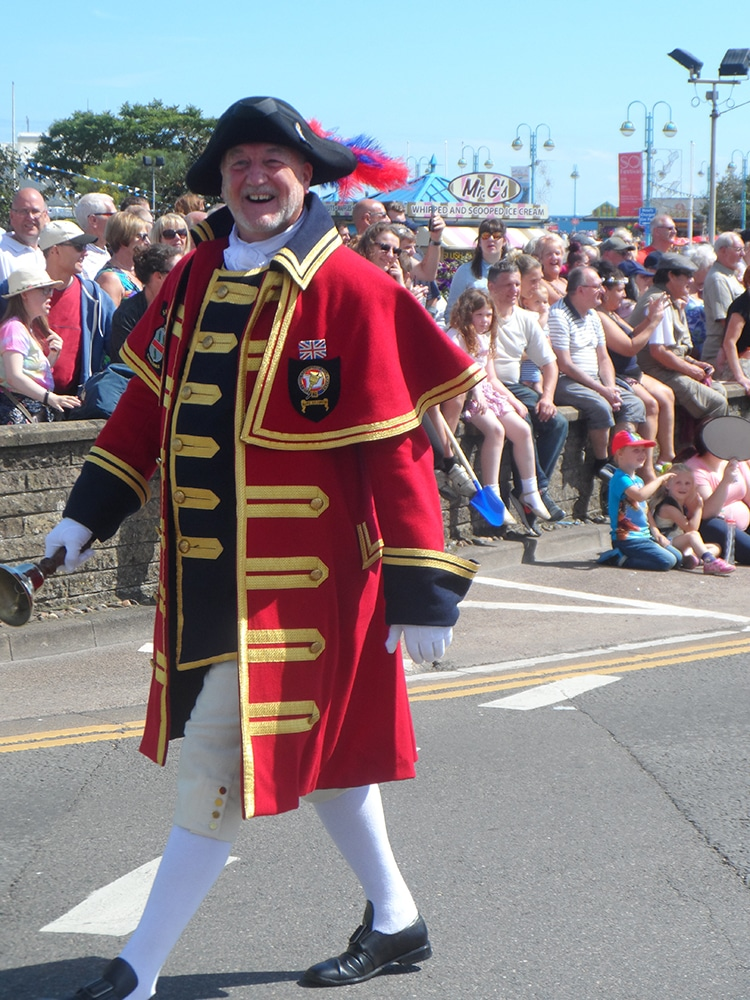 Steve O'Dare Leading the Carnival Parade in Skegness